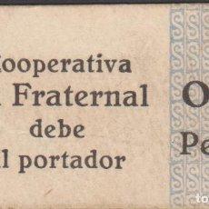Billetes locales: LOCALES Y FICHAS DINERARIAS COMERCIALES - COOP. LA FRATERNAL - VILASSAR DE DALT 0,50 PESETAS - L-523. Lote 103379651