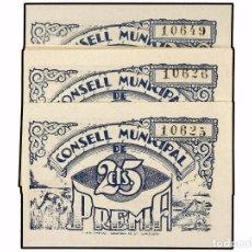 Billetes locales: CATALUNYA 1 BILLETE 25 CÈNTIMS 1937 C.M DE PREMIÀ SIN SELLO SC SIN CIRCULAR! CENTIMOS AYUNTAMIENTO. Lote 103642831