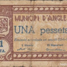 Billetes locales: BILLETES LOCALES - ANGLES - GIRONA 1 PESSETA 1937 - MONT-169D. Lote 104239963