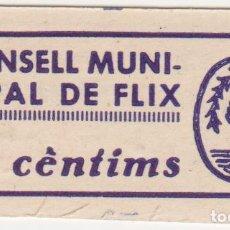 Billetes locales: BILLETES LOCALES - FLIX - TARRAGONA 5 CENTIMS - T-1192 (SC). Lote 104359179