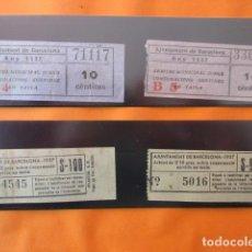 Billetes locales: BARCELONA - LOTE 4 BILLETE ARBITRIO SOBRE CONSUMICION SERVIDA EN MESA 1937 GUERRA CIVIL - 2 CAPICUAS. Lote 107206695