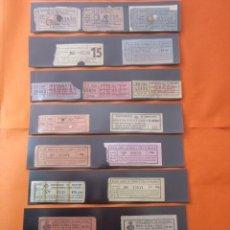 Billetes locales: BARCELONA - LOTE 19 BILLETES SERVICIO SILLAS Y SILLONES VIA PUBLICA RAMBLAS - 17 CAPICUAS - MERCADO. Lote 107206883