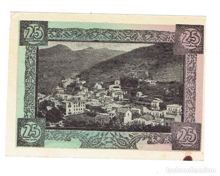 Billetes locales: BILLETE LOCAL DE 25 CENTIMOS AJUNTAMENT DE MONTMANY serie c nº 216 ( FIGARO ) sc 1937 - Foto 2 - 108847331