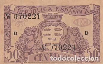 Billetes locales: EL CONSEJO MUNICIPAL DE LORCA-50 CENTIMOS - Foto 2 - 108889675