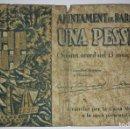 Billetes locales: BILLETE AJUNTAMENT DE BARCELONA UNA 1 PESSETA SERIE C 1937. Lote 117472519