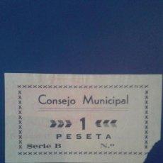 Billetes locales: CABRA 1 PESETA. Lote 117972815
