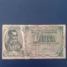 Billetes locales: BURRIANA 1 PESETA. Lote 118680315