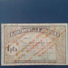 Billetes locales: JONQUERA, LA 1 PESETA. Lote 118680383