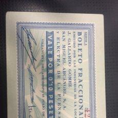 Billetes locales: RARO BILLETE DE LA GUERRA CIVIL DE VILLANUEVA DEL ARZOBISPO 0,10 PESETAS. Lote 120877452