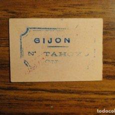 Billetes locales: VALE INTERIOR DE GIJON. Lote 125320838
