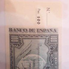 Billetes locales: BILLETE BILBAO MATRIZ 100 PTAS 1937 PLANCHA. Lote 122246294