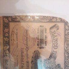 Billetes locales: BILLETE BANCO VALLADOLID 1857 5OO REALES DE VELLON SERIE C N.05232. Lote 122247247