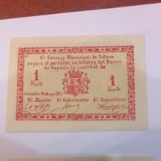 Billetes locales: BILLETES TOTANA 1937 50 CTMOS .UNA PTS PLANCHA. Lote 122339042
