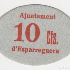 Billetes locales: BILLETES LOCALES - ESPARRAGUERA (BARCELONA) 10 CTS. S/F. - T-1077A (SC). Lote 125678723