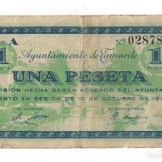 Billetes locales: TAMARITE - 1 PESETA - 1937. Lote 126394027