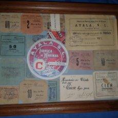 Billetes locales: CUADRO CON VALES DE PAN Y HARINA DE CIUDAD REAL GUERRA CIVIL. Lote 101052182