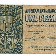 Billetes locales: BARCELONA - 1 PESETA - 1937. Lote 126704603