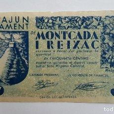 Billetes locales: F 1650 BILLETE DE MONTCADA Y REIXAC DE 50 CENTIMOS T1791 NO ES REPRODUCCIÓN EBC. Lote 128182203