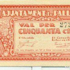 Billetes locales: 50 CTMOS DE PALLEJA R A.T. 1770B SC. Lote 128711475