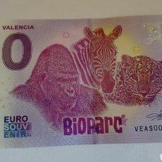 Billetes locales: BILLETE 0 EUROS BIOPARC VALENCIA SIN CIRCULAR. Lote 134879907