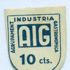 Billetes locales: 10CTMOS AGRUPAMENT INDUSTRIA GASTRONOMICA DE BARCELONA L-1226 SC. Lote 129564975