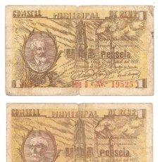 Billetes locales: 1 UNA PESETA REUS 21 JULIO 1937 HAY 3 MODELOS DIFERENTES ORIGINALES. Lote 89115216