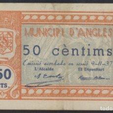 Billetes locales: J.B. BILLETE DE ANGLÈS , 50 CENTIMOS , 3ª EMISIÓN , MONTANER 169F , TURRÓ 162. Lote 130927608