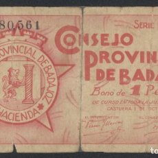 Billetes locales: J.B. BILLETE DE BAJAJOZ , 1 PESETA , MONTANER 214C. Lote 131040868