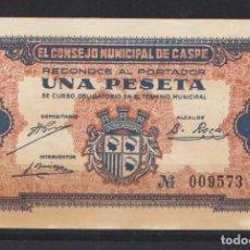 Billetes locales: CASPE (ZARAGOZA) - . Lote 133596778