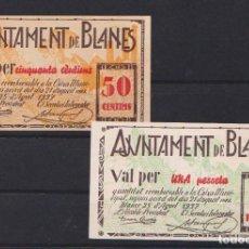 Billetes locales: BLANES (GERONA) - 25 AGOSTO 1937. Lote 133596782