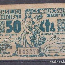 Billetes locales: LOS NAVALMORALES (TOLEDO) - SIN FECHA DE EMISION. Lote 133596866