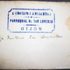 Billetes locales: ASTURIAS. VALE POR 1/4 LITRO DE ACEITE. PARROQUIAL DE SAN LORENZO. GIJÓN AÑOS 40/50. Lote 134550990
