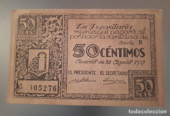BILLETE DE GRAUS - 50 CÉNTIMOS (Numismática - Notafilia - Billetes Locales)