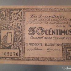 Billetes locales: BILLETE DE GRAUS - 50 CÉNTIMOS. Lote 137816834