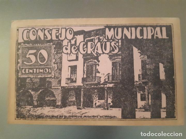 Billetes locales: Billete de Graus - 50 céntimos - Foto 2 - 137816834
