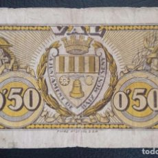 Billetes locales: BILLETE LOCAL 50 CNTS BAIX MONTSENY-BARCELONA. Lote 137890202
