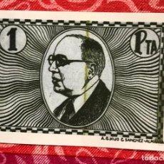 Billetes locales: CONSEJO MUNICIPAL DE VILLAFRANCA DE LOS CABALLLEROS TOLEDO 1 PESETA. Lote 236989980