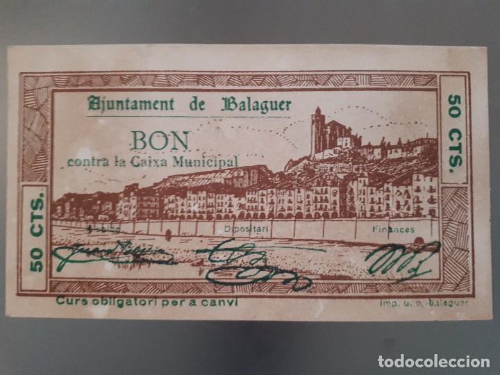 BILLETE LOCAL DE BALAGUER - 50 CÉNTIMOS (Numismática - Notafilia - Billetes Locales)