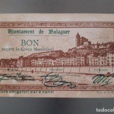 Billetes locales: BILLETE LOCAL DE BALAGUER - 50 CÉNTIMOS. Lote 138678446