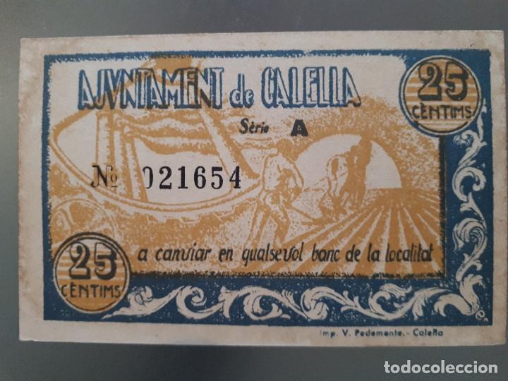 Billetes locales: Billete local de Calella - 25 céntimos - Foto 2 - 138679842