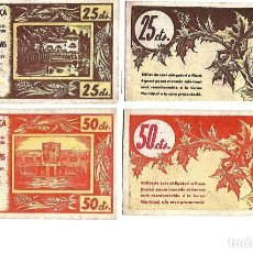 Billetes locales: AJUNTAMENT DE FLAÇA ** 50 Y 25 CENTIMS **. Lote 140925578