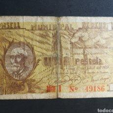 Billetes locales: BILLETE LOCAL - REUS - 1 PESSETA. Lote 141139046