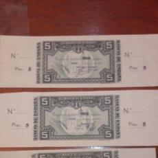 Billetes locales: BANCO DE ESPAÑA BILBAO TRES BILLETES FIRMAS BANCOS CENTRAL.. URQUIJO VASCONGADO..CABA AHORROS PIEDAD. Lote 142043085