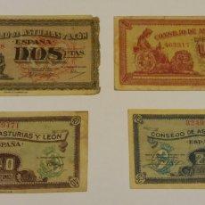 Billetes locales: BILLETES REPUBLICA ESPAÑOLA ASTURIAS Y LEÓN. Lote 142418212
