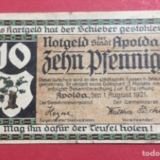 Billetes locales: BILLETE LOCAL ALEMANIA 1921. Lote 143759776
