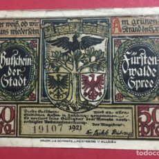 Billetes locales: BILLETE LOCAL ALEMANIA 1921. Lote 143759802