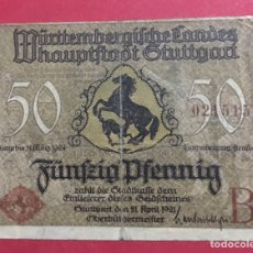 Billetes locales: BILLETE LOCAL ALEMANIA 1921. Lote 143759898
