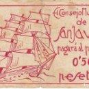 Billetes locales: BILLETE DE 50 CENTIMOS DEL CONSEJO MUNICIPAL DE SAN JAVIER - GUERRA CIVIL (RARO). Lote 146310466