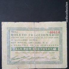Notas locais: VILLANUEVA DEL ARZOBISPO 25CTS. Lote 146623422