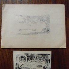 Billetes locales: GUERRA CIVIL.NOVELDA(ALICANTE)1937.BILLETE LOCAL 50 CTS.PRUEBA ORIGINAL EN NEGRO.RARISIMO.. Lote 147500030